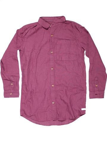 Long sleeve shirt boy RIVER ISLAND pink 10 years winter #10125_1