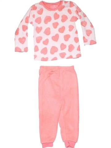 2 pieces Pyjama girl YD beige 3 years winter #10149_1