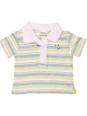 Short sleeve polo shirt boy F&F white new born summer #10806_1