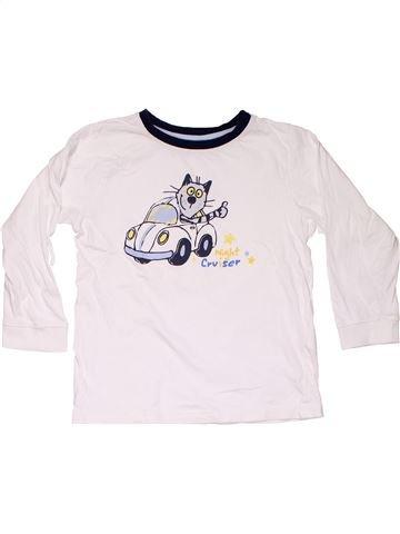 Long sleeve blouse boy TCM white 6 years winter #10889_1