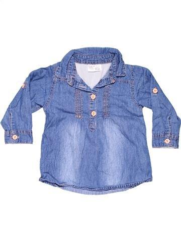 Long sleeve polo shirt girl ERGEE blue 2 years summer #11104_1