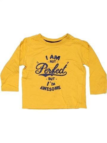 Long sleeve T-shirt boy REBEL yellow 12 months winter #11629_1