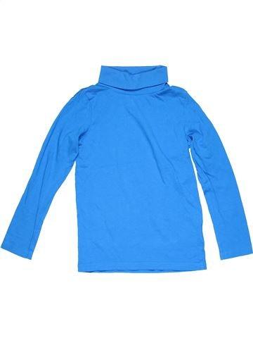 Turtleneck T-shirt girl PALOMINO blue 7 years winter #12150_1
