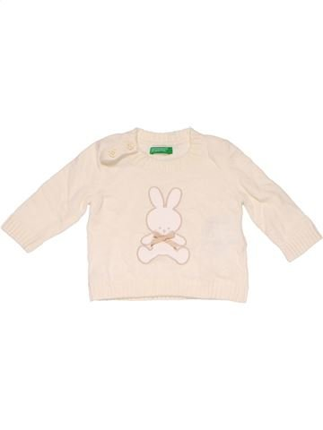 Jumper unisex BENET white 1 month winter #12602_1