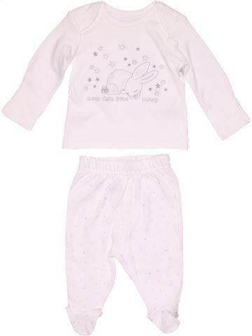 2 pieces Pyjama unisex GEORGE white 1 month winter #14181_1