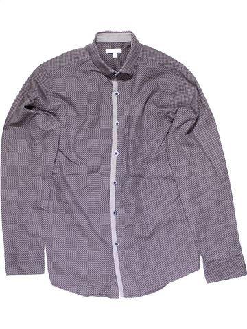 Long sleeve shirt boy BLUEZOO purple 13 years winter #14276_1