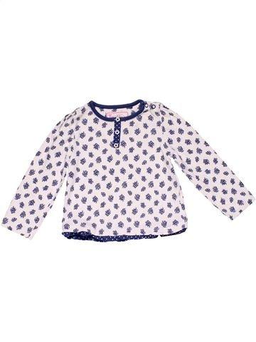 Long sleeve blouse girl TU white 12 months winter #14714_1