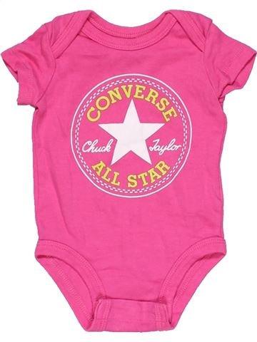 Short jumpsuit girl CONVERSE pink 3 months summer #15175_1