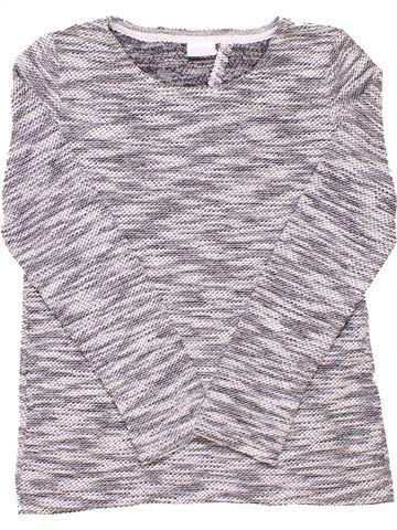 Long sleeve blouse girl F&F KIDS gray 10 years winter #1517_1