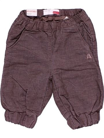 Trouser unisex NEWBORN gray 3 months winter #15195_1