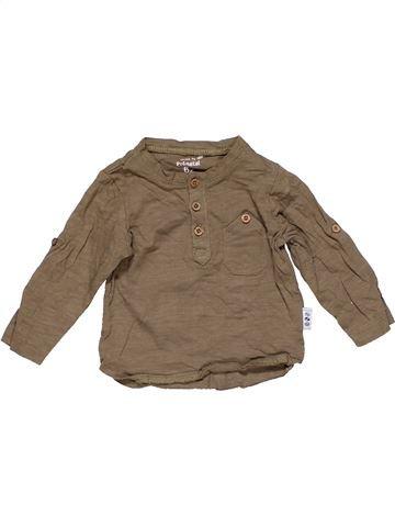 Long sleeve blouse boy PRENATAL brown 3 months winter #15299_1
