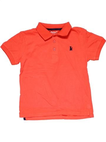 Short sleeve polo shirt boy REBEL red 10 years summer #15777_1