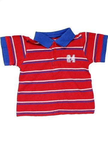 Short sleeve polo shirt boy REBEL red 12 months summer #15821_1