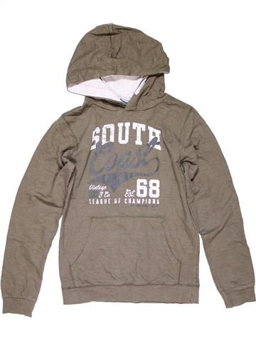 Sweatshirt boy AUTHENTIC brown 12 years winter #15946_1