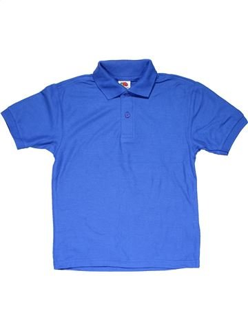 Short sleeve polo shirt boy FRUIT OF THE LOOM blue 6 years summer #19063_1