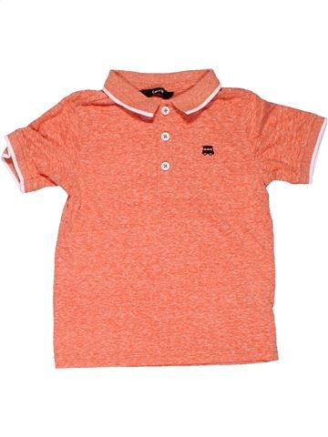 Short sleeve polo shirt boy GEORGE orange 5 years summer #19630_1