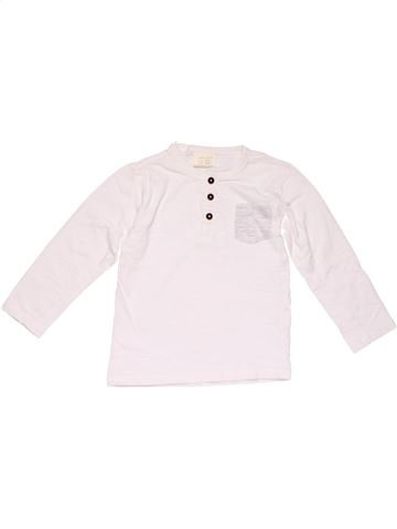 Long sleeve T-shirt boy ZARA white 4 years winter #19774_1