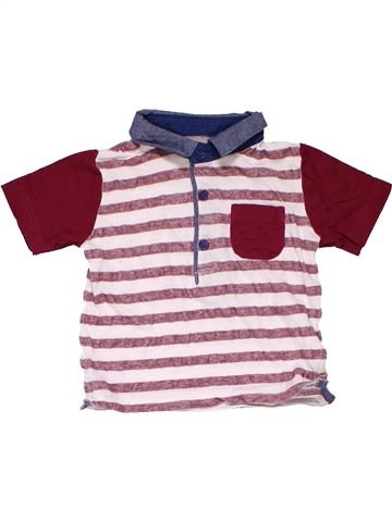 Short sleeve polo shirt boy MATALAN pink 9 months summer #20081_1
