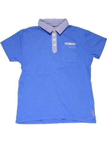 Short sleeve polo shirt boy LEE COOPER blue 10 years summer #20127_1