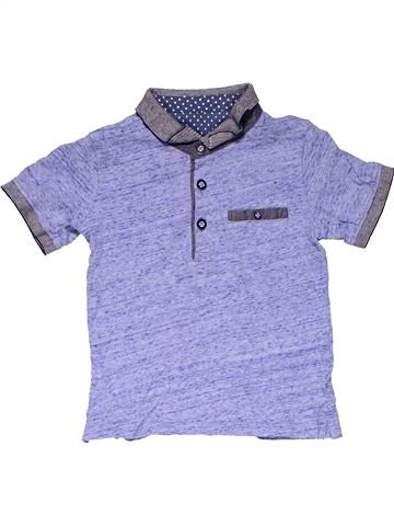 Short sleeve polo shirt boy MATALAN blue 2 years summer #20244_1