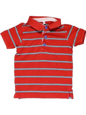 Short sleeve polo shirt boy MARKS & SPENCER red 12 months summer #20849_1