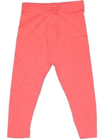 Leggings girl GEORGE pink 18 months winter #21928_1
