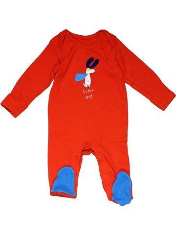 Long jumpsuit unisex MARKS & SPENCER red 6 months winter #22702_1