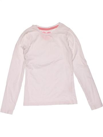 Long sleeve T-shirt girl YOUNG DIMENSION white 9 years winter #22728_1