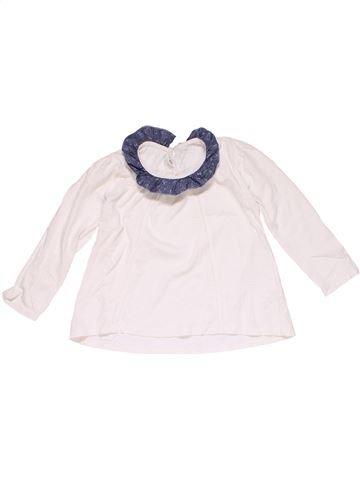 Long sleeve T-shirt girl MATALAN white 5 years winter #22990_1