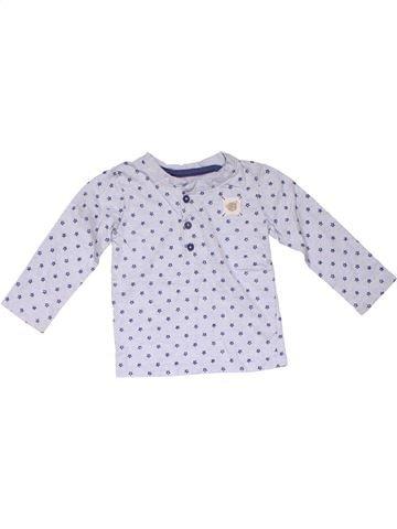 Long sleeve polo shirt boy GEORGE gray 12 months winter #24416_1