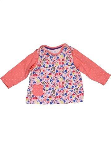 Long sleeve T-shirt girl MARKS & SPENCER pink 9 months winter #24872_1