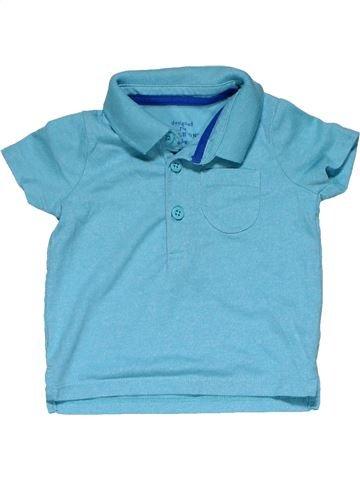 Short sleeve polo shirt boy F&F blue 6 months summer #25826_1