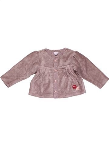 Long sleeve blouse girl PITI BISOU pink 12 months winter #26175_1