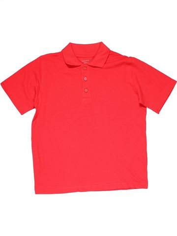 Short sleeve polo shirt boy M&S red 8 years summer #26393_1