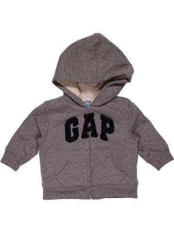 Sweatshirt boy BABY GAP gray 6 months winter #26828_1