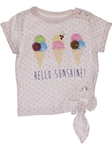 Short sleeve T-shirt girl M&CO white 6 months summer #26872_1