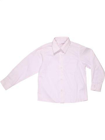 Long sleeve shirt boy MARKS & SPENCER white 5 years summer #2742_1