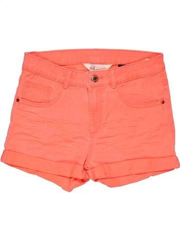 Short pants girl H&M orange 13 years summer #27430_1