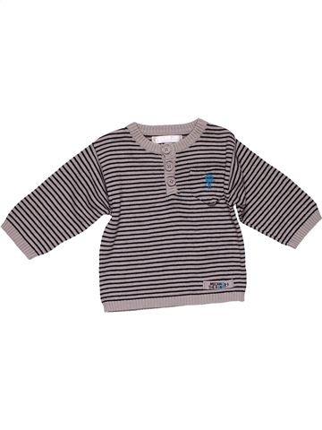 Long sleeve polo shirt boy KITCHOUN gray 3 months winter #27542_1