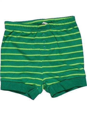Short pants boy LOW FIRE DANGER green 6 months summer #27557_1