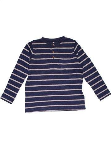 Long sleeve T-shirt boy M&S blue 6 years winter #27613_1
