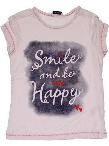 Short sleeve T-shirt girl GEORGE white 7 years summer #27655_1