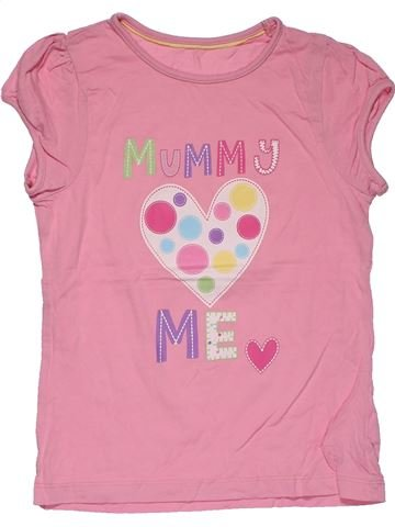 Short sleeve T-shirt girl MOTHERCARE pink 7 years summer #27660_1