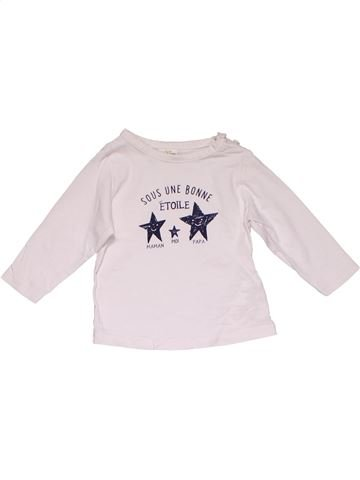 Long sleeve T-shirt boy TAPE À L'OEIL white 6 months winter #27782_1