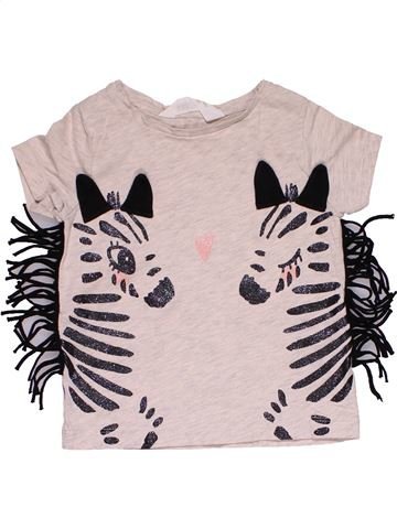 Short sleeve T-shirt girl H&M white 2 years summer #27787_1