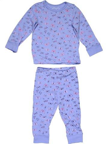 2 pieces Pyjama girl MOTHERCARE purple 18 months winter #27858_1