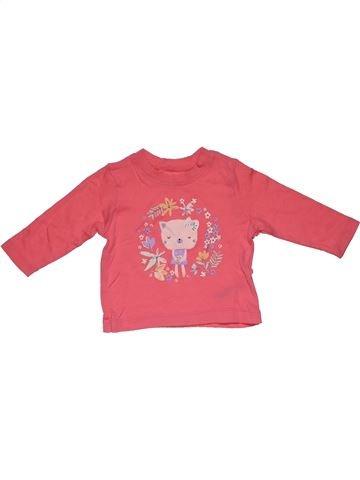Long sleeve T-shirt girl NUTMEG pink 9 months winter #27942_1