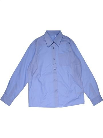Long sleeve shirt boy MARKS & SPENCER blue 11 years summer #28048_1