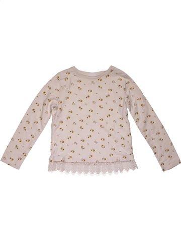 Long sleeve T-shirt girl F&F pink 9 years winter #28053_1