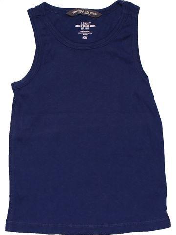 Sleeveless T-shirt boy H&M blue 4 years summer #28078_1